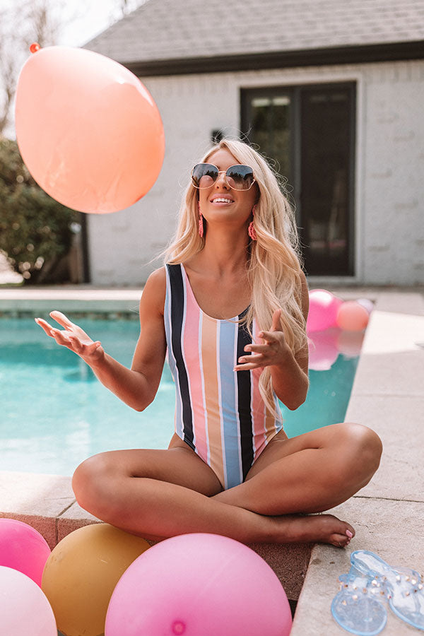 Sunshine For Days Stripe One Piece Swimsuit