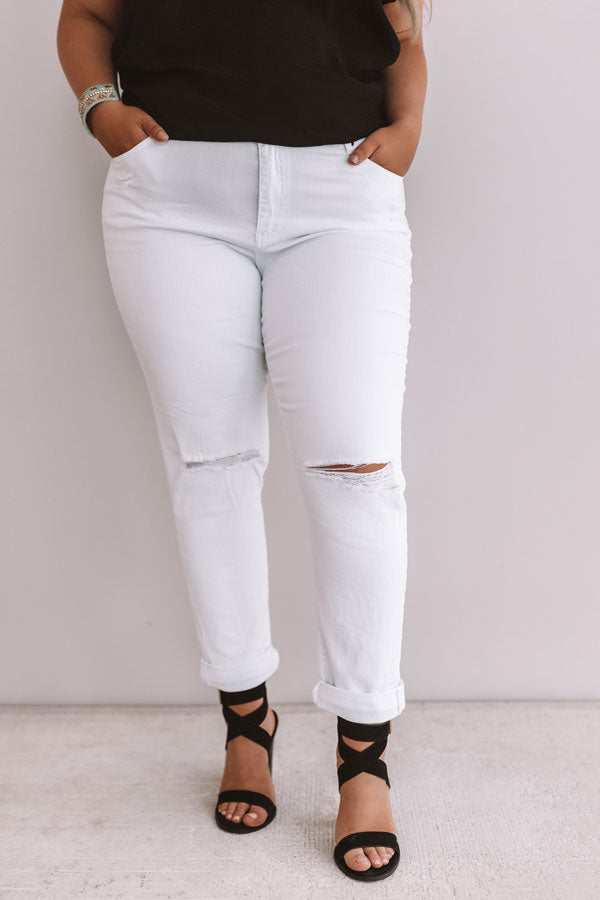 The Reyna Midrise Distressed Ankle Skinny