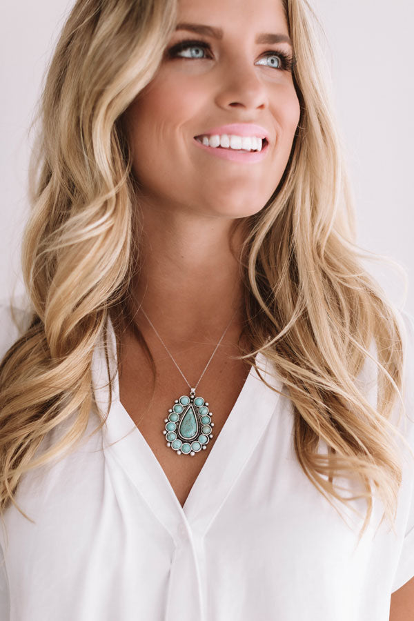 Palm Springs Getaway Turquoise Necklace