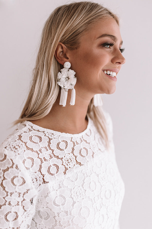 St. Lucia Love Earrings In White