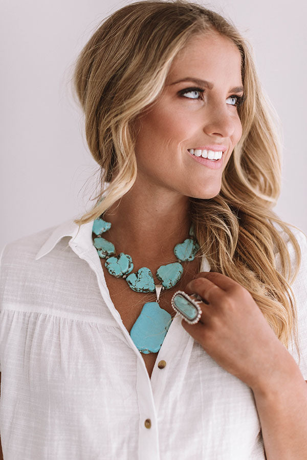Seaside Views Turquoise Necklace