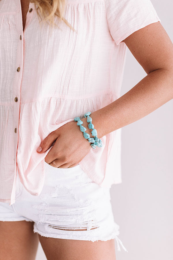 Better In The Bahamas Turquoise Bracelet