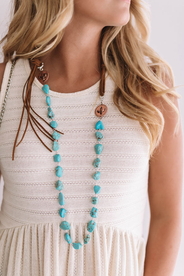 Sweetness In The South Turquoise Necklace