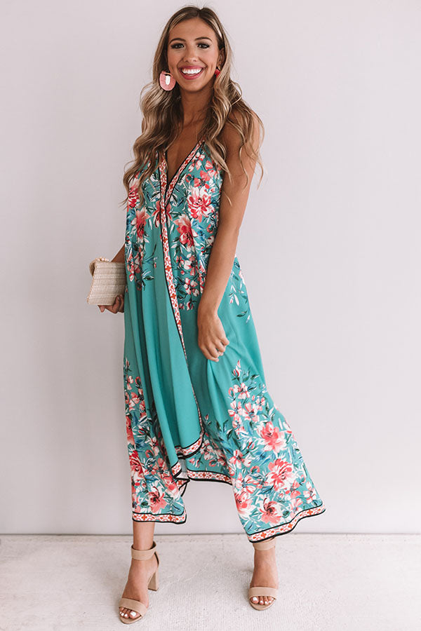 Margaritas and Making Memories Floral Midi