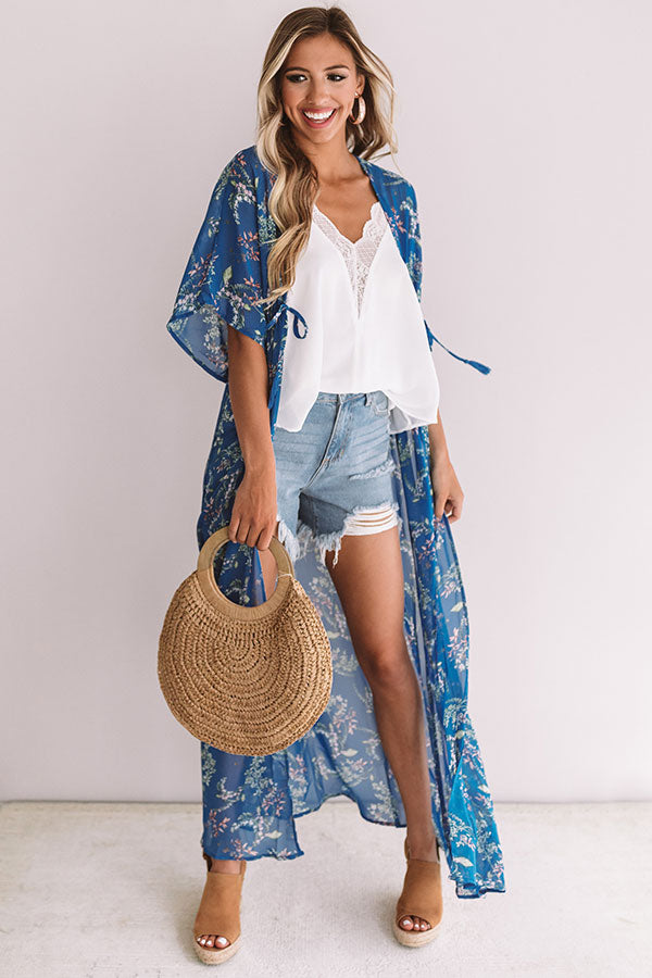 Malibu Views Floral Duster