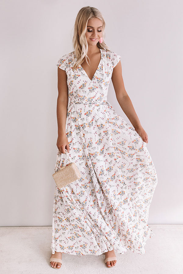 Pretty For The Party Floral Wrap Maxi