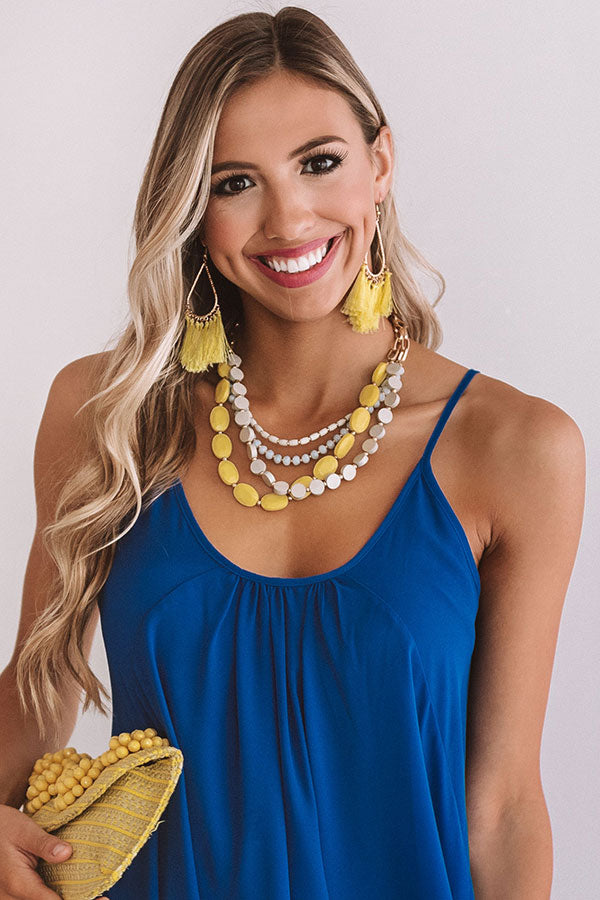 Santorini Sunsets Layered Necklace In Yellow