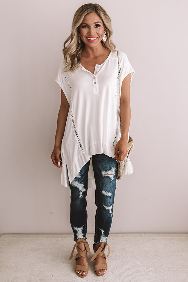 Girl On The Go Shift Top in Ivory