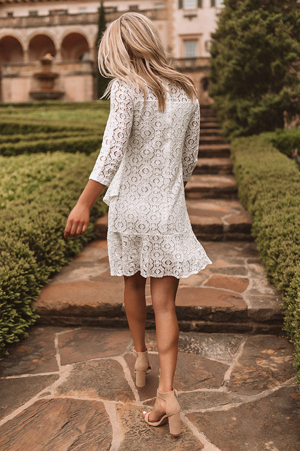 Champagne Night Lace Dress