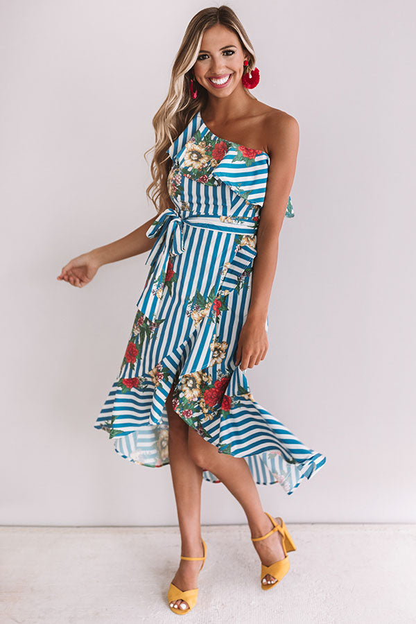 Riviera Rendezvous Ruffle Dress
