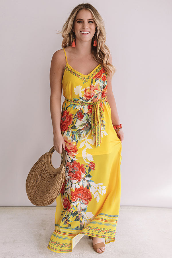 You're Golden Floral Maxi