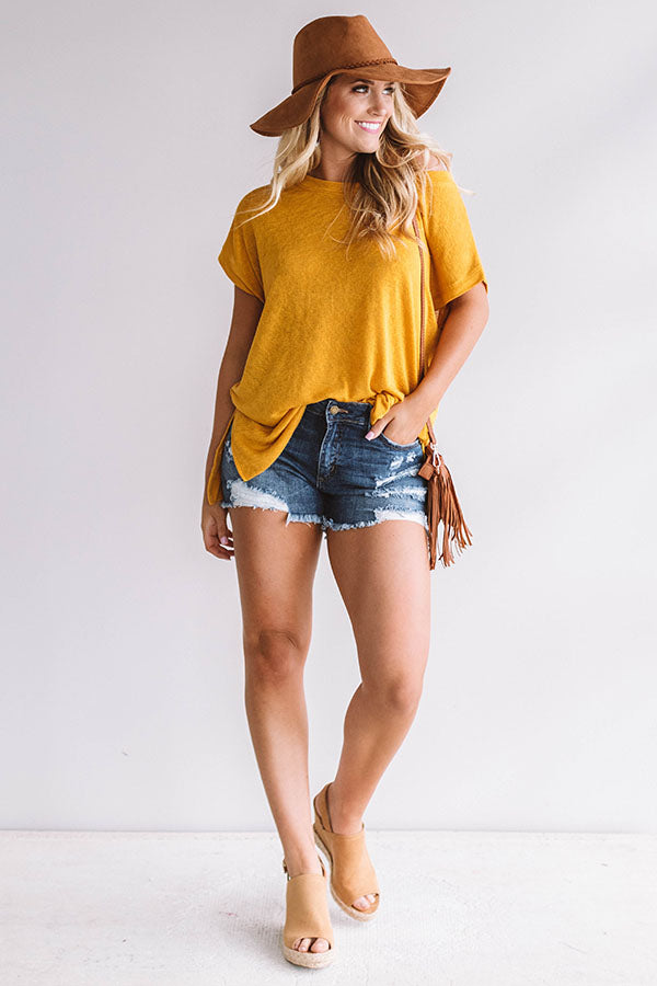 Check It Out Shift Tee in Mustard