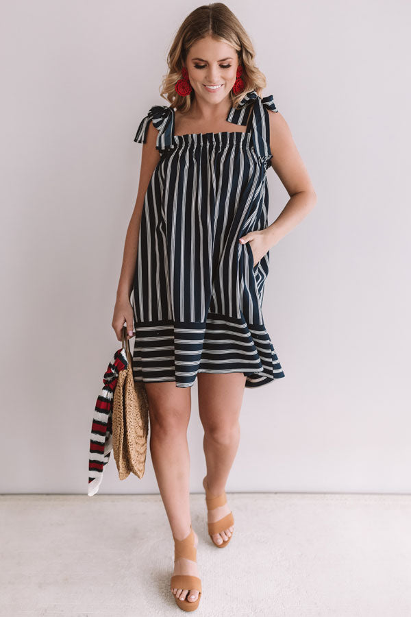 Cabo Vacay Stripe Shift Dress