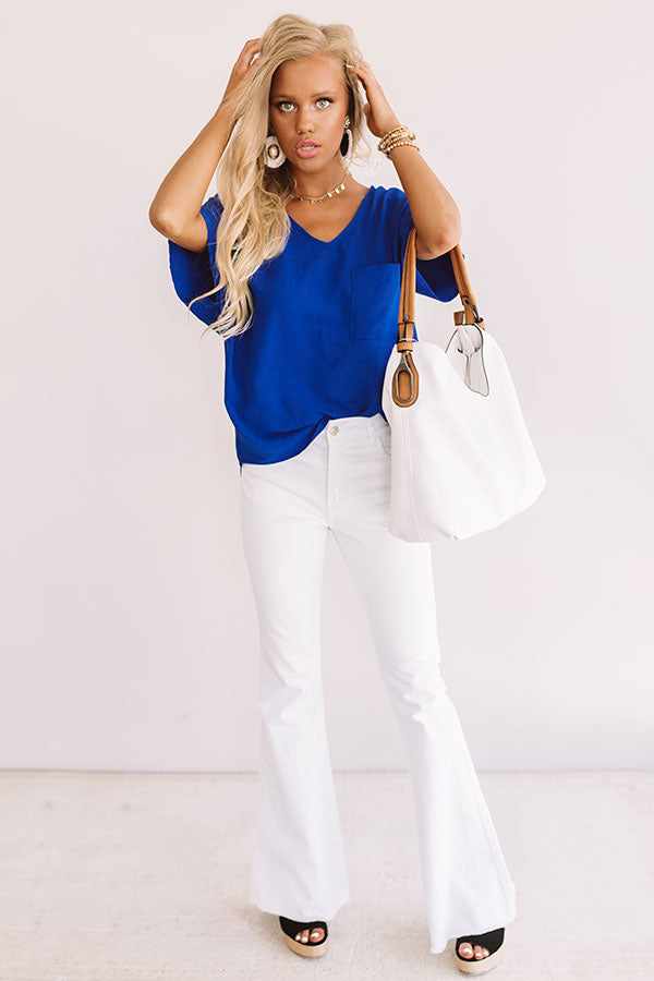 Moroccan Moment Shift Top In Royal Blue