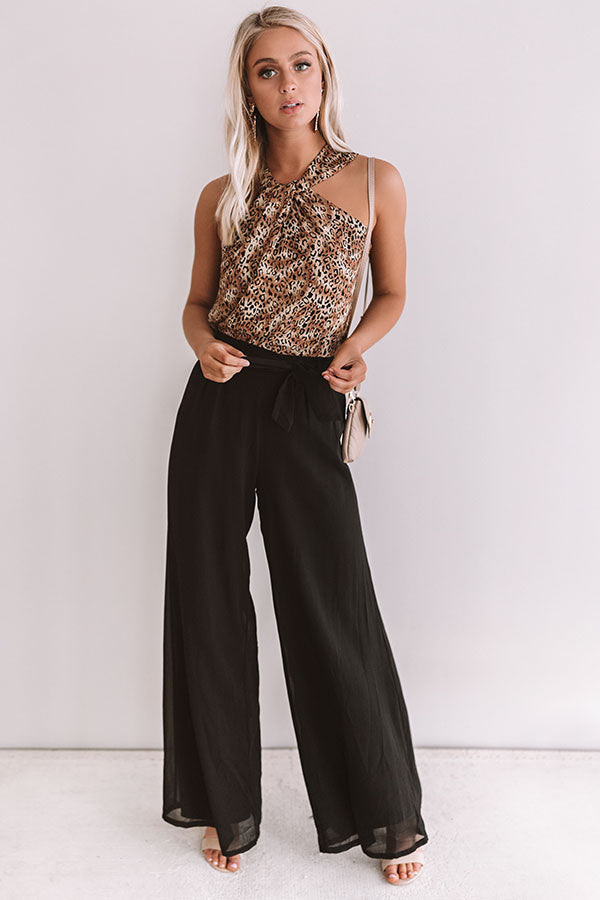Straight To The Top High Waist Pants In Black