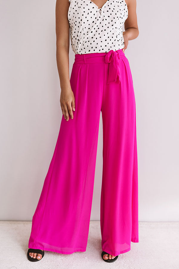 straight to the top high waist pants in hot pink