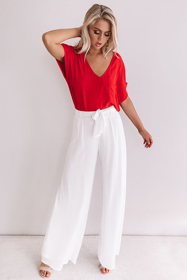 Moroccan Moment Shift Top In Red