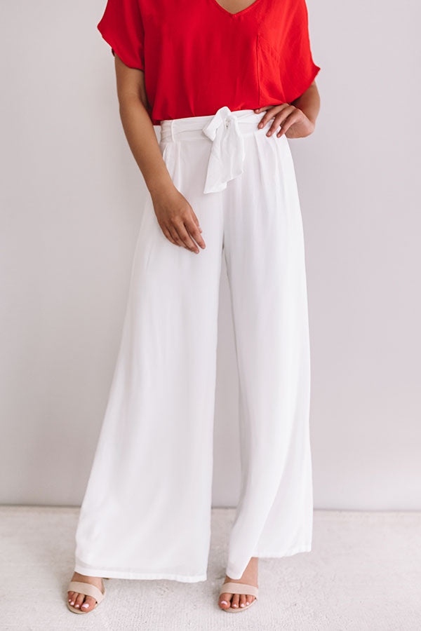 Straight To The Top High Waist Pants In White