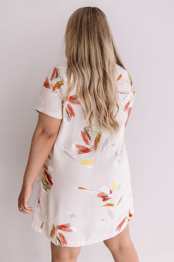 Pier Party Floral Shift Dress In Birch