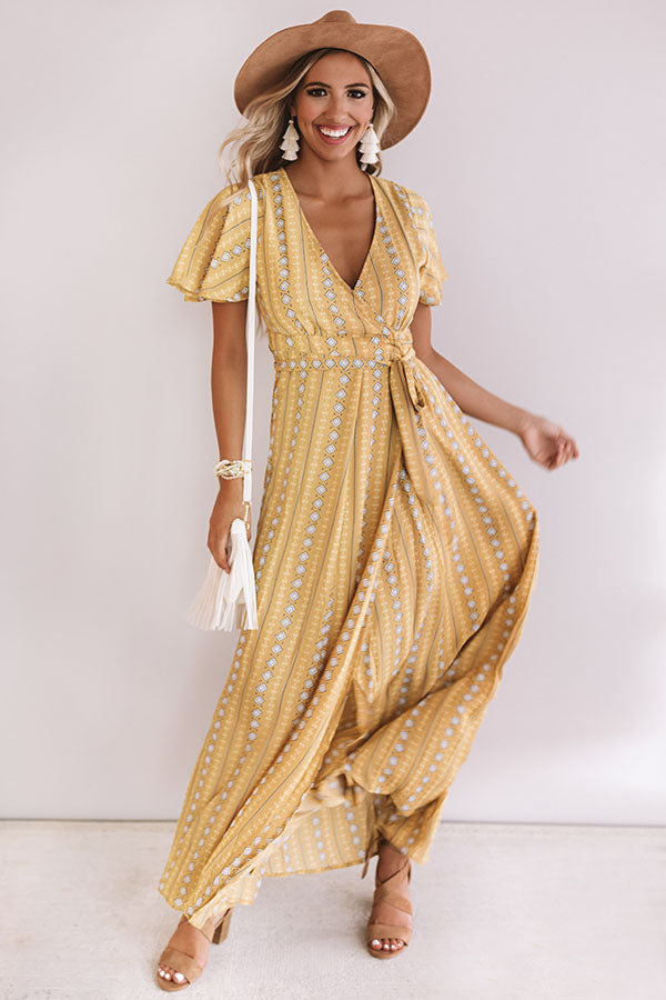 Palm Springs Getaway Wrap Maxi
