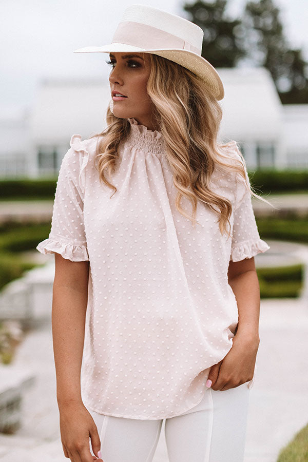 The Sweet One Shift Top In Light Pink