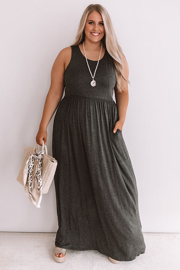 Summer Love Maxi In Charcoal