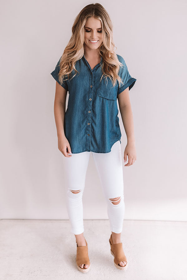 Blue Jean Baby Chambray Top