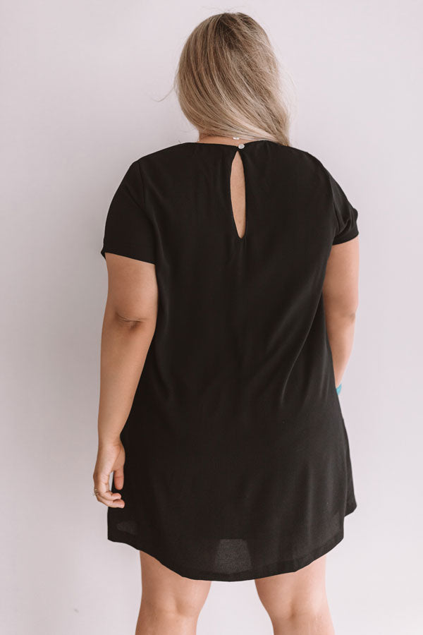 Pier Party Shift Dress In Black