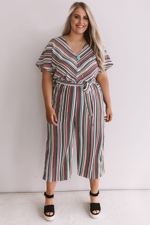Making It In Manhattan Stripe Jumpsuit