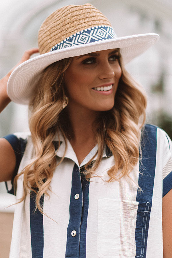 Chic In Miami Hat In White