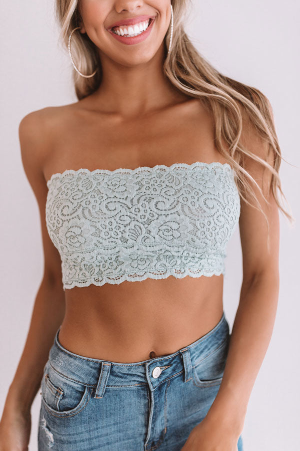 Scallop Lace Bandeau in Pear