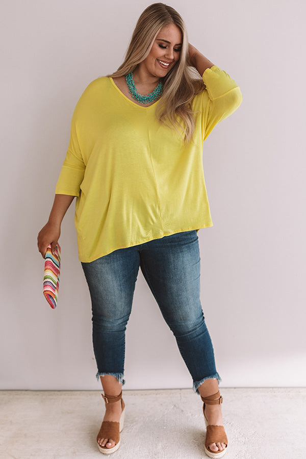 Better And Brighter Shift Top In Yellow