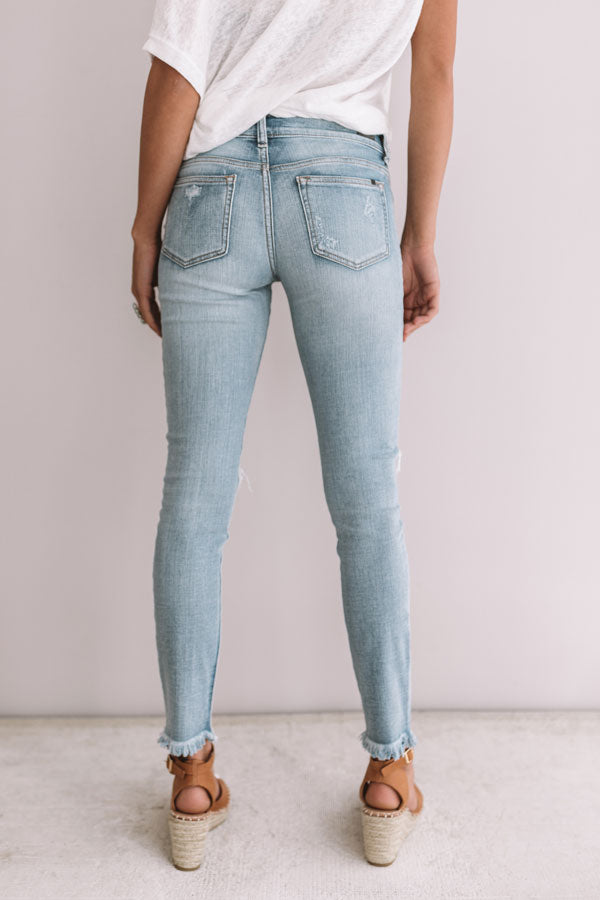 The Kately Midrise Distressed Skinny in Light Wash