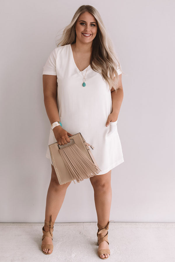 Pier Party Shift Dress In Cream