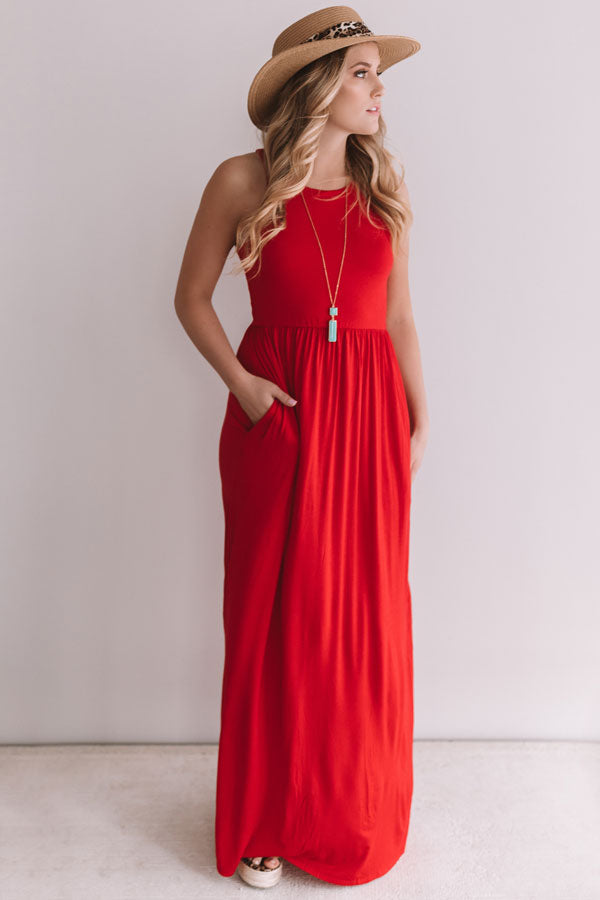 Summer Love Maxi In Red