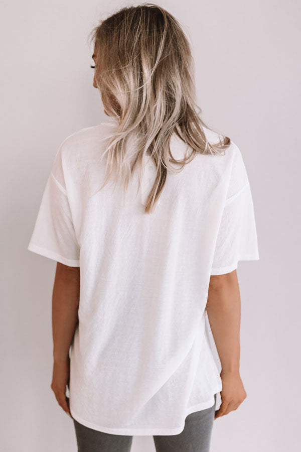 On The Road Again Shift Tee In White