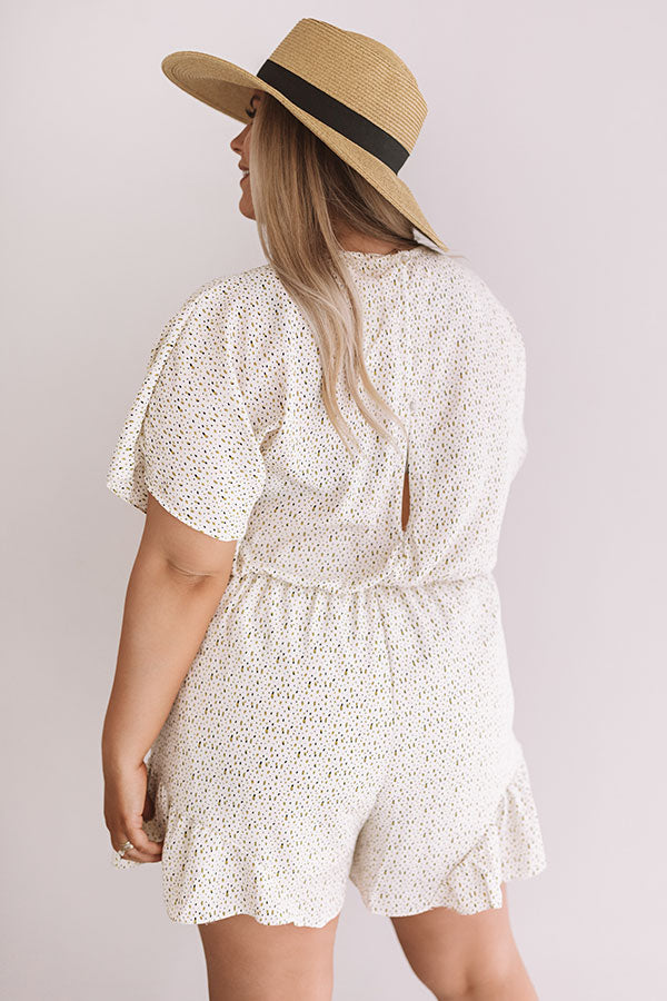 Cali Chick Romper In Cream