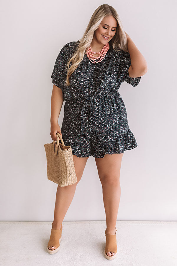 Cali Chick Romper In Navy