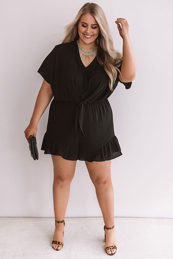 Cali Chick Romper In Black