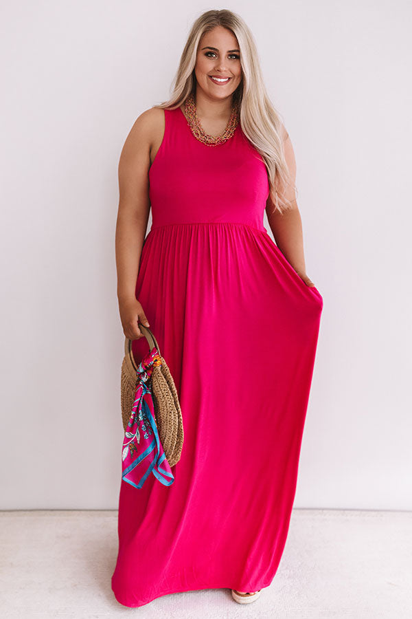 Summer Love Maxi In Hot Pink