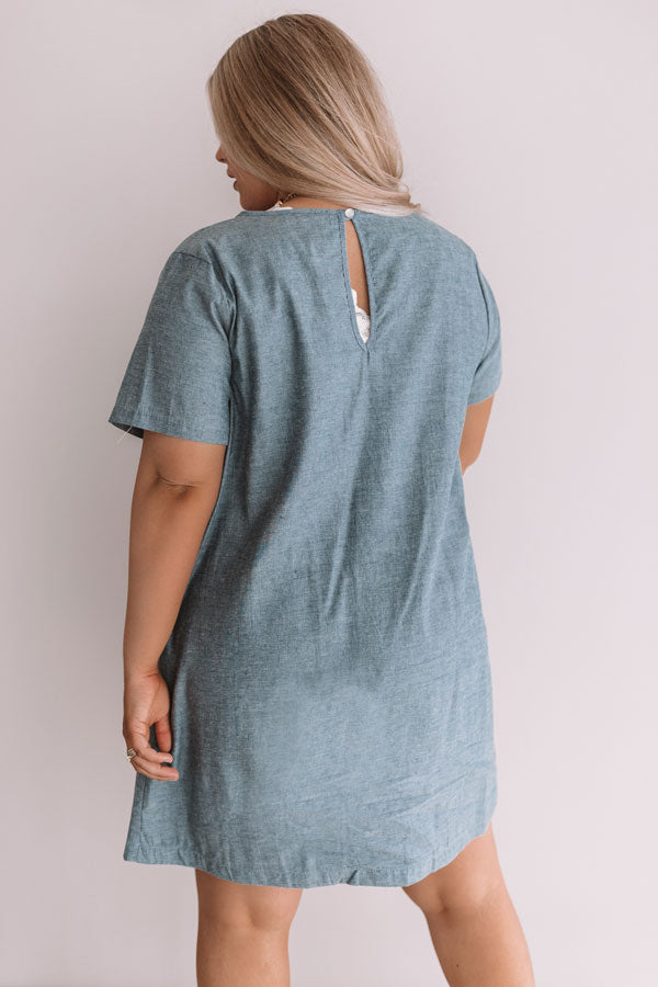 Pier Party Chambray Shift Dress