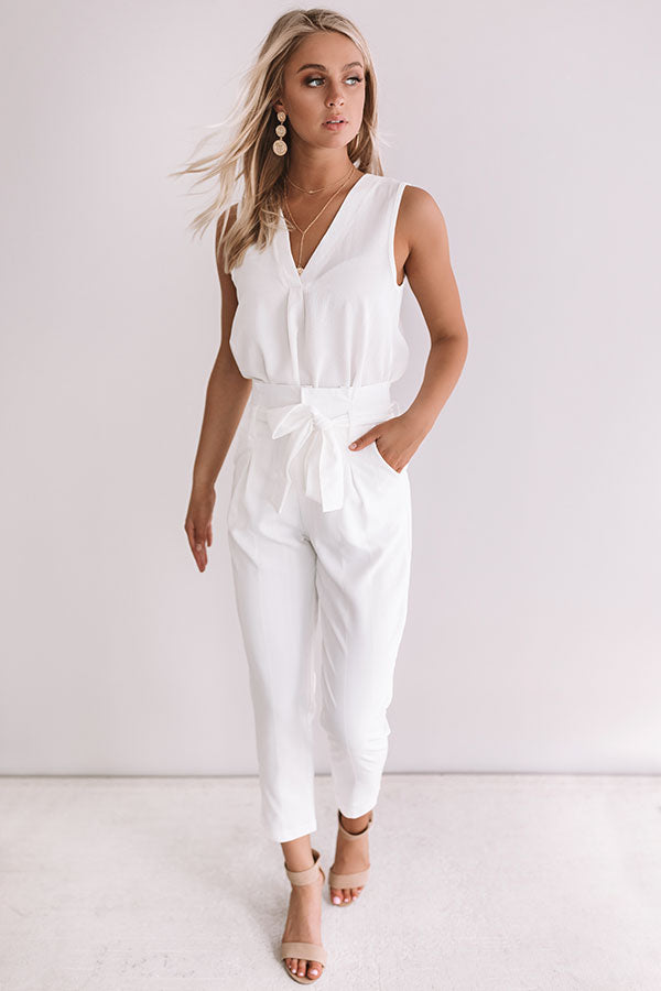 One And Only Trousers In White