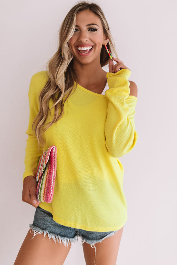 Best Of The Best Knit Sweater In Yellow