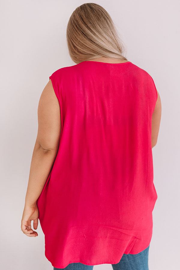 Time For A Getaway Shift Tunic In Raspberry