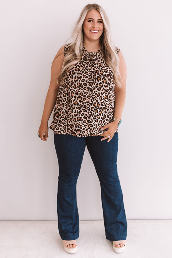 City Sites Leopard Top