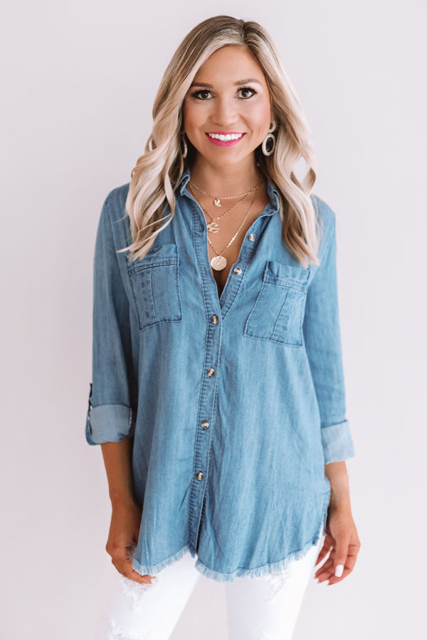 Brunch And Besties Chambray Top
