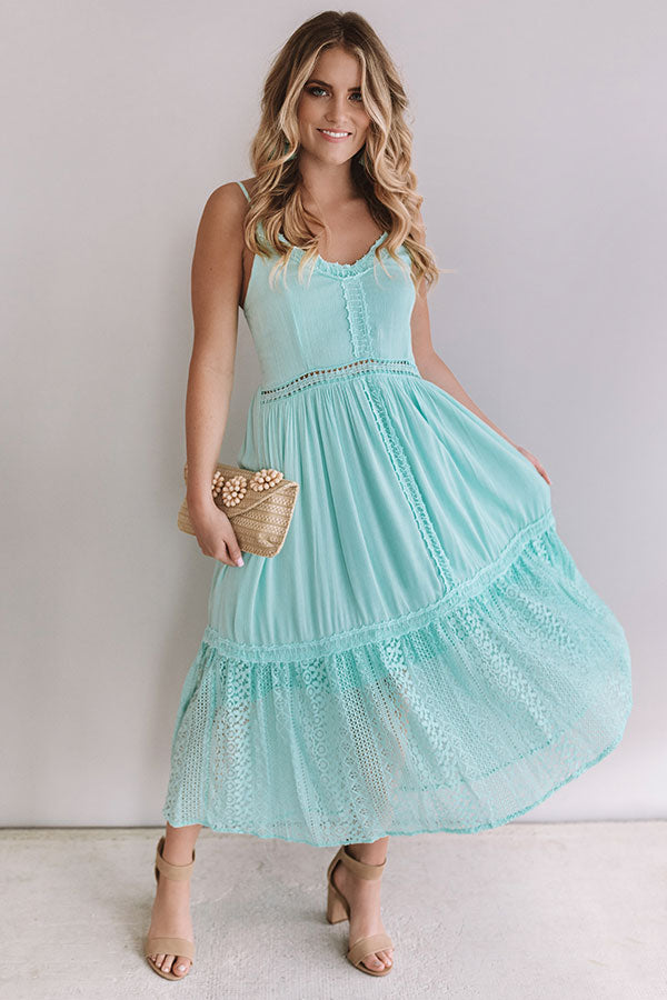 Peach Bellinis In Paradise Midi In Mint