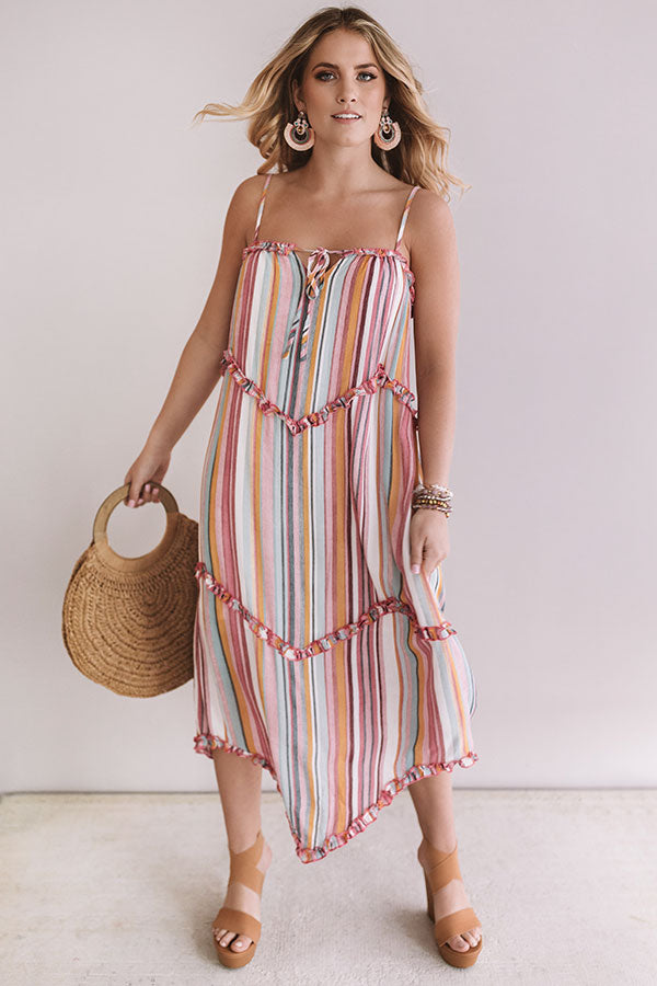 Adore You More Stripe Midi