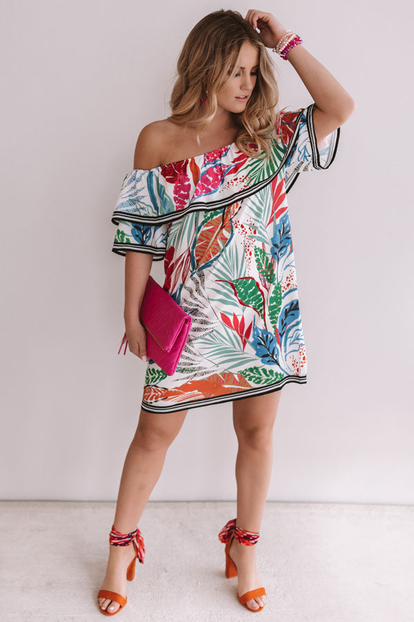Feelin' Floral Off Shoulder Shift Dress