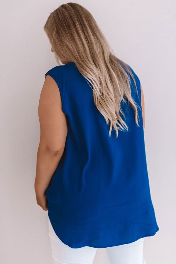 Time For A Getaway Shift Tunic In Royal Blue